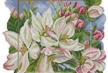 haft - rośliny 5 - kwitnące drzewa