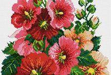 haft - kwiaty - hibiskus