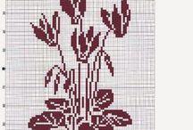 haft - rośliny 2 - jednokolorowe