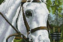 haft - zwierzęta - konie