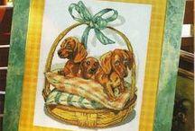 haft - zwierzęta - psy