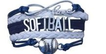 Softball Bracelets- Softball Gifts / These softball charm bracelets will make a great gift for your favorite softball player! Only ay Sportbella.com