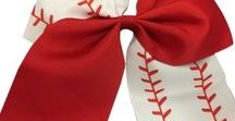 Softball Hair Bows / Softball