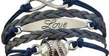 Softball Bracelet or Baseball Bracelet / Softball