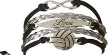 Volleyball Team Gifts / Volleyball gift ideas for volleyball players, coaches, and fans. Players and Coaches spend the whole season working hard, earning their end of season gifts like these volleyball bracelets, keychains and more