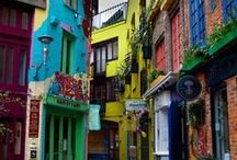 Colorful buildings / Can't wait to paint my own house...