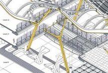 ARCH :: Architectural Diagrams / Concept Diagrams, Program Diagrams, Exploded Axonometrics