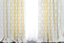The Hyland Collection Custom Curtains and Drapery by DrapeStyle / We're loving these gorgeous poly custom drapes by DrapeStyle!  Available in 9 contemporary fabrics with a wonderful embroidered gate design.  Order fabric samples of all of them at http://www.drapestyle.com/hyland-cotton-custom-drapery.html