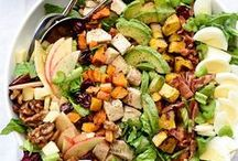 Delish Salads / From the light and refreshing to the packed and rich, a good salad always does the trick. There's just something about leafy greens and crunchy lettuce that's so satisfying.