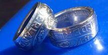 Muntring / Handgemaakte ringen uit zilveren Nederlandse guldens & rijksdaalders.