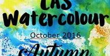 "CAS Watercolour Oct. 2016 Challenge / ""Autumn"" is the watercolour challenge for this month."