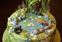 Funny themed cake