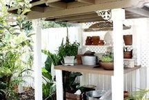 Potting Benches / If you are looking for the best place to pot up your plants, take a look at these ideas!