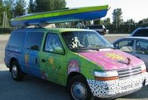 funky vehicles / I used to drive a Glittergirl van and would be in Art Car parades. That's where my love of funky vehicles began!