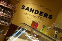 Sanders Shoppes / Sanders Shoppes are a Michigan favorite offering chocolates, ice cream, baked goods & hot fudge toppings using original recipes from early as 1875. Stop in for everything from Hot Fudge Sundaes, Milkshakes and Detroit (aka Boston) Coolers to freshly baked cookies and gourmet coffee. We also great gifts for every occasion, including boxed chocolates, along with an array of gift baskets, crates and pre-wrapped gift towers.