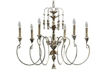 Lighting / The lighting board has examples of light fixtures and ideas of lighting for different rooms. Much of it is French country and there are definitely plenty of chandeliers.