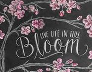 Chalkboards and Printables / This board is for chalkboard art ideas. It also includes art and chalkboard prints / printables for the home.