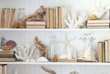 By the Sea / This board is about ocean themed decor and crafts. It's about decorating with seashells, coral, and such.