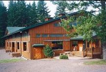 Harmony Hills Farm / Five stall barn and 72' x 108' indoor steel arena with an attached viewing room. Located in Portland, Oregon. Completed 1997.