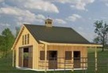 Trilogy Barn and Stable Company / Your dream stable and/or indoor riding arena is already designed. Our plans for horse barns can be adapted to your building site and desires. From 3-stall breezeway horse barn plans (Springcreek) to 6 stall horse barn plans (Heartland), to 20-stall horse barn plans (Fieldstone) for professional breeders and trainers, Trilogy Barn and Stable Company has the post and beam design for you.