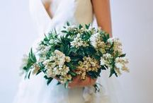 White Bouquets / Scenemakers inspiration for white bridal bouquets. #whiteflowers #whitebouquets #weddingflowers #wedding
