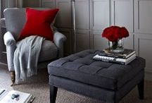 Nifty Footstools / Footstools add that extra bit of comfort to a room. Some of these footstools even have hidden storage inside of them, making them functional pieces of furniture too.