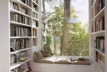Reading Nooks / We love finding cosy, hidden corners where you can escape all the hubbub and enjoy a good book. Find inspiration for your own reading nooks with these beautiful, cosy and comfy reading corners.
