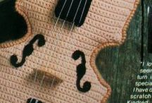 Crochet Musical Instruments / All types of musical instruments made with crochet