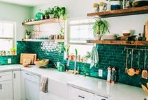 Green Interiors Inspiration / Want to style your room with more green? Use these designs for green interiors inspiration. You'll find green products, design ideas, green wallpapers, and more that will help you style green for any room or interior design.