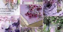 collages - purples tones