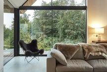 No Visible Blinds - Living Spaces / Great interior design with no visible window blinds.