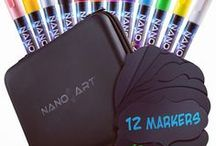 NanoArt Chalk Markers Set / Do you or your children like decorating your home with cute and colorful drawings? Aren't you sick and tired of being hesitant of letting your kids use art supplies and paints, because you're worried they contain toxic and harmful chemicals? Wouldn't it be great if there was a water-based coloring product, one that can be easily wiped off from most surfaces? Well, you're in luck! These amazing liquid chalk markers may just be what you've been looking for!