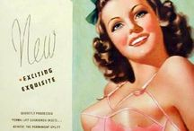 Vintage Lingerie & Swim Ads / Ads from yesterday of lovely ladies posing in their finest underthings, or frolicking at the beach.