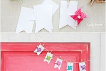Pinwheels & Pennant Bunting / I love bright, breezy colors.  Pinwheels and pennants are perfect with both.
