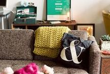 Style File - Home / home spaces I love, color schemes, arrangements, wall decor, furniture, rugs, pillows, bookcases