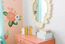 Girls' Room Decorating / Design challenge:  two girls, one small bedroom.  It's been a challenge finding a way to decorate that will please both of them according to tastes preferences and age difference.  I keep ideas on file here.