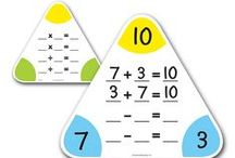 Homeschool- Math / math worksheets, games, posters, songs, all things numbers (elementary)