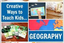Homeschool - Geography / places around the World, map work