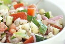 SALADS & SIDE DISHES / Salads and diet food.