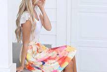 Sunday Besting / Putting on your Sunday best--dresses, skirts, and outfits that are stylish, modest, and semi-formal.