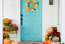 Entrance Making / Welcome!  The front door is an important first impression of your home.  Make it a good one!