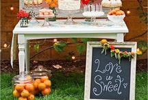 Citrus Wedding / Wedding decor featuring citrus fruits and colors.