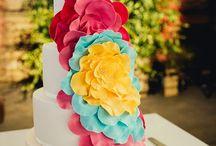 Fiesta Wedding / Wedding decor featuring bright colors, casual/fun vibe.
