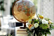 Around the World Wedding / A wedding theme made of maps, globes, and all things cartographic.