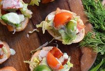Appetizing / Appetizers, finger foods, party plates, and other foods ideal for entertaining