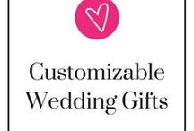 "Personalized Wedding Gifts | Unique Wedding Gift Ideas / Nothing quite says ""Congratulations"" or ""Thank you"" than a customizable wedding gift! Take a step back, relax, and be ready to pin."