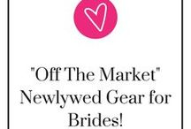 """Off The Market"" Newlywed Gear for Brides! / Nothing says ""I'm married"" than a mug or shirt that says ""Off the Market"" on it. You can find some of these at: gourmetweddinggifts.com."