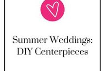 Summer Weddings- DIY Centerpieces / Whether your summer wedding theme is tropical, garden, or beach themed, we have a compilation of the perfect DIY summer centerpieces for you! Take a step back, relax, and be ready to pin.