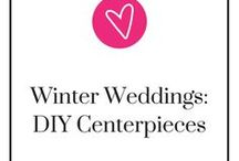 Winter Weddings-DIY Centerpieces / Need some inspiration for your DIY winter wedding centerpiece? Don't worry, we'll get some of your brain juices flowing! Here are some of the many gorgeous, elegant DIY winter centerpieces there are out there.