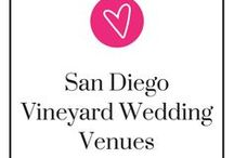 San Diego Vineyard Wedding Venues / Love wine and want a vineyard for your wedding? San Diego has so many of them. They're all romantic settings for your wedding, too! We made this Pinterest board so you don't need 20 tabs open while you're on your search for your perfect San Diego vineyard venue. Take a step back, relax, and be ready to pin.